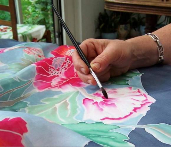 Техника росписи по шёлку