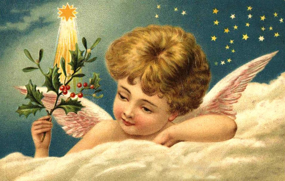 Рождество христово открытка старинная