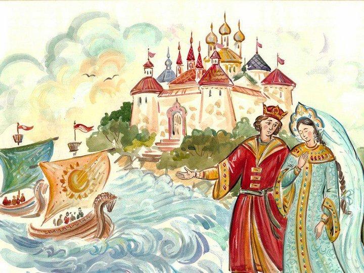 картинки города из сказки о царе салтане совмещенный современной