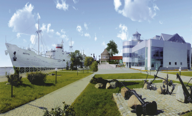 Набережная исторического флота Музея Мирового океана