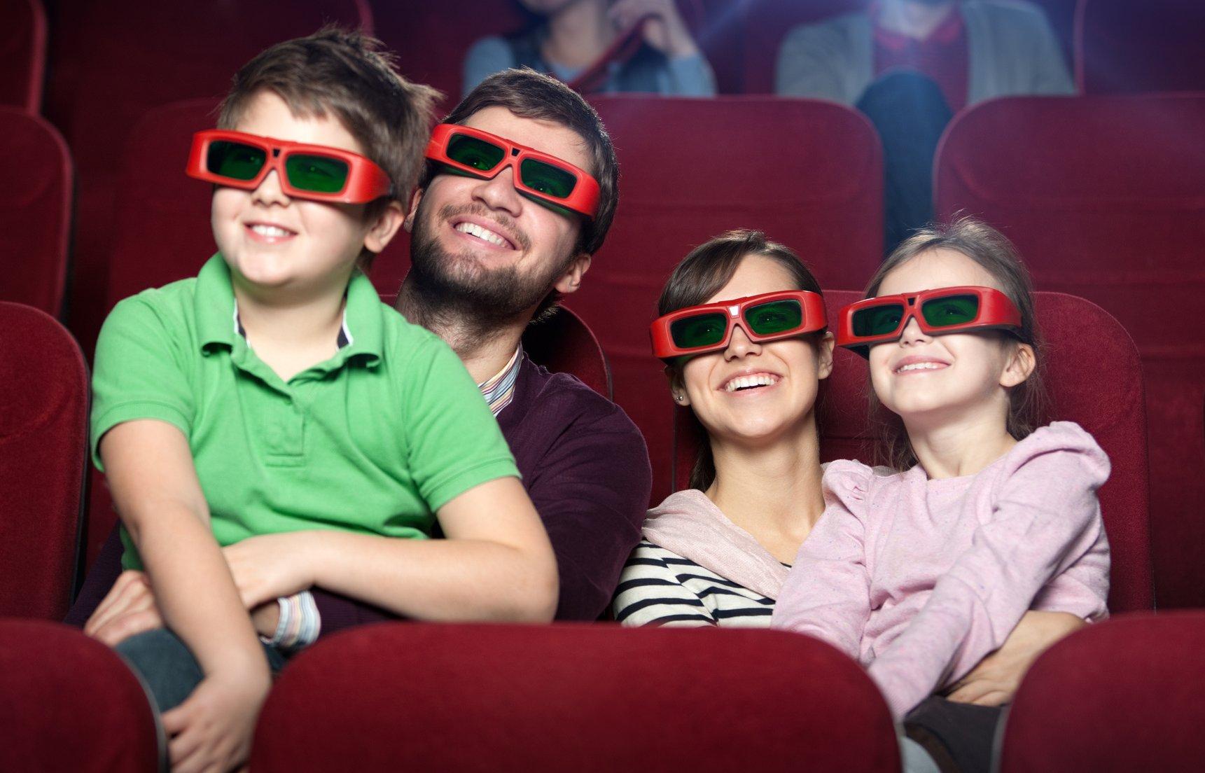 В кино с детьми фото