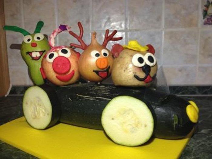 Поделки смешарики из овощей и фруктов на выставку в школу своими руками