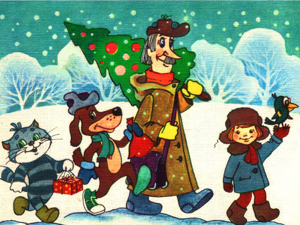 Детские зимние сказки в картинках