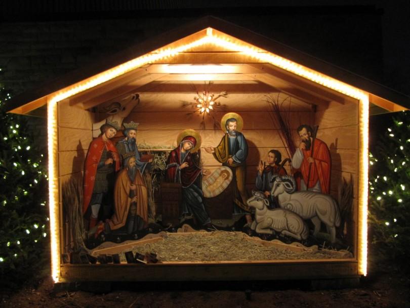 Картинки с рождественским вертепом