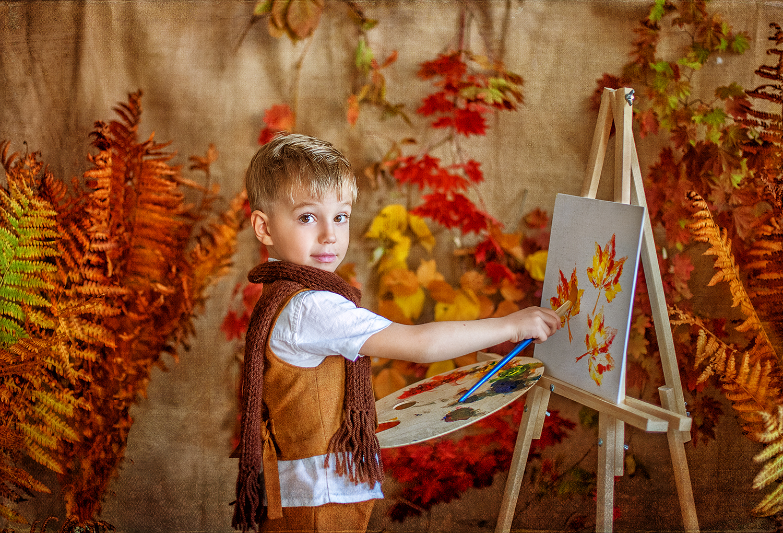 Картинки художник рисует осень, картинки фото